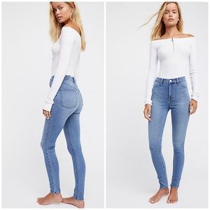 Free People High Rise Long and Lean Jeans